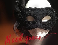 Princess ladies dance party mask black swan lace feather flower mask halloween mask
