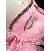 Pink masquerade mask masquerade masks with short yarn wedding gift