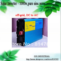 promotion solar inverter 1000w dc 12v 24v 48v to ac 220v switching pure sine wave for solar power system with controller