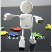 2pcs/lot free shipping HI-SPEED USB 2.0 4 port USB HUB Doll shape usb hub