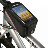 10PCS/LOT Mountanin Motobike Cycling Bike Bicycle Frame Pannier Front Tube Bag for Cell Phone Red Free Shipping