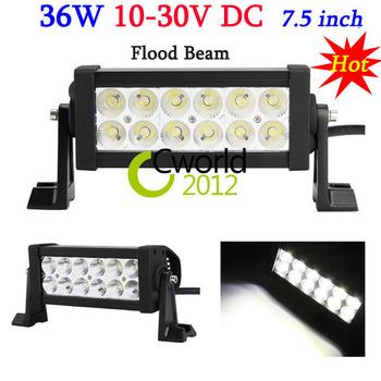 36W 7.5'' Flood Beam offroad Work light bar LED FLOOD Beam Lamp Truck BOAT SUV 4WD 4X4 ATV UTV MINING CAMPING FREE SHIP