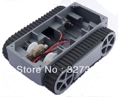 Freeshipping Wholesale Retail New Smart car crawler chassis RP5 robot tracing tank car tracking(China (Mainland))