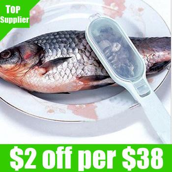 Free Shipping 5pcs/lot Discount 10x Multifunctional Fish Scale Scraper Peeler Cleaner Killing Fish Knife