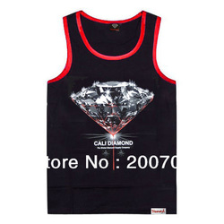 Free shipping to USA fashion cheap mens tank tops hip hop clothing brand designer cool sleeveless sport men's vest 2pcs/lot(China (Mainland))