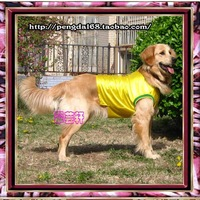 Pet vest,  basketball vest spring and summer clothes, sportswear yellow