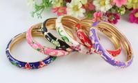 Fashion jewelry wholesale lots 9pcs exquisite cloisonne rhinestone bracelet