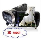 Free shipping by DHL/EMS,new OEM 16MP Dual CMOS Sensor 3D Video Camera ON SALE HD-D10 Black