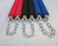4 Colour Martial Art Nunchuck Foam Sponge Metal Chain sticks Safe Nunchaku Prop Training Costume[000001]