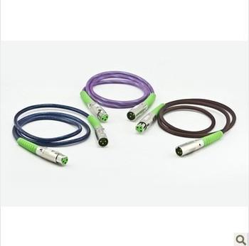 15m Earobe klx-2 XLR High Quality KTV Microphone Audio Cable Purple Coffee Blue Free Shipping