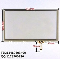 6.5 inch 4-wire resistive touch panel for GPS Navigator  Car DVD  AT065TN14 155*89