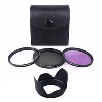 58mm UV CPL FLD Filter Set for Canon EOS 1100D 1000D 650D 600D 18-55mm Camera DSLR Lens