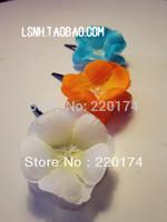 Fashion Green Orange White 3Color bridal for women frangipani wedding adornment for hairpins silk flowers rosette clip bows