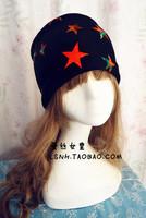New fashion black red pentagram wide cotton turban headbands headband hair ornament hair accessory women headwear bandana scarf