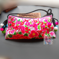 Embroidered bags vintage national trend double faced embroidery embroidered handmade fabric day clutch cross-body shoulder bag