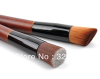 Free Shipping  Fast Selling High Quality Nylon Hair 2pcs Makeup Brush Powder Brush Cosmetic Brush 2 Size Flat or Oblique Bouth