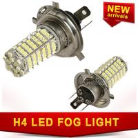 12V H4 LED Fog light 1210, 3528 SMD 120 leds White Light Car Bulb DRL Lamp Super Bright free shipping