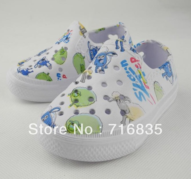 Free shipping Kids Boy Girl Bright cartoon Spring Garden Slide Shoes sandals 0-3years C0024(China (Mainland))