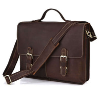 2013 High Quality Retro Vintage Genuine Leather Laptop Messenger Tote Bags for Men Business Briefcase Handbags Free Shipping