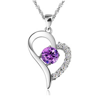 Beautiful Heart Necklace,Precious Austria Crytal SWA Elements,925 Sterling Silver Material,Platinum ON19 Plating