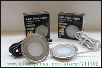 Free shipping 0.7W IP54 RGB LED floor light: 20pcs light & 5pcS 8W driver with juction box & 5pcs RGB controller(SC-B101C)