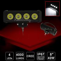 2X 4WD Spot/Flood Beam SUV 40W Cree LED Work Light bar Van camper 24V/12V IP67 ATV AWD 4x4 Off-road light 4000lm Driving car