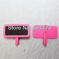 60x Worldwide Free Shipping Bright Pink Tiny Wood Wedding Party Craft Lolly Buffet Blackboard Peg 1256