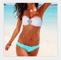 Free shipping [1361-1] 2013 new design top brand ladies' sexy fashion bikinis, women's swimwear
