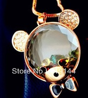 Crystal Small Teddy Bear Pendant,12pcs/lot