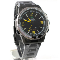 WEIDE Mens LED Quartz Analog&Digital Sports Watches WH-1009-B-6 WATER RESISTANT