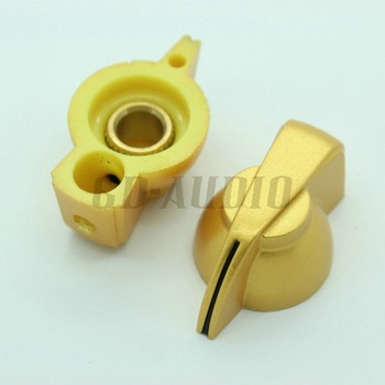 "10PCS Golden Chicken head knobs 1/4"" brass insert for tube guitar amp effect pedal Over Drive Speaker parts Free Shipping"