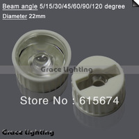 Free shipping 50x Led Lens 5 Degree For 1w 3w Lamp  Black Holder
