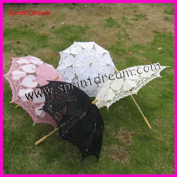 ( 10pcs / lot ) 100% algodão artesanato guarda-sol , guarda-chuva de algodão , guarda-chuva battenburg rendas(China (Mainland))