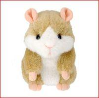 Free Shipping 6pcs 1 lot  Plush Hamster Talking Hamster