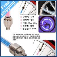 Free shipping 4 colors on sale LED Flash Tyre Wheel Valve Cap Light , car LED drl Wheel Light daytime running light  4pcs/lot