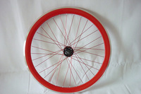 2014 Popular 50MM Deep V Rims Flip-Flop Fixed Gear Track Bike Wheelsets with Fixed Cog