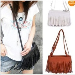 Fashion Fringe Tassel Shoulder Messenger Bag Hand Style Women lady Satchel(China (Mainland))
