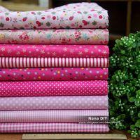 18pcs/lot 45cm*45cm beautiful Pink series 9 design cotton fabric bundle, DIY 100% cotton partchwork fabric Freeshipping