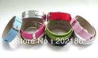 50pcs 18+8mm PU Leather Wristband Fit 8mm slide letter