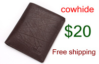 2013 men's new free shipping cowhide leather purse fashion bag
