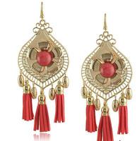 E1435 RMB 100 mixed batch of national peony tassel hearts earrings Exaggerated fashion big earrings Free shipping