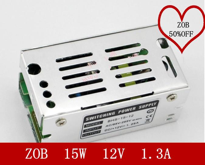15W 1.3A 12V LED Switching Power Supply,100~120V/200~240V AC input,12V Output power suply in stocks CE ROSH-3PCS/LOT(China (Mainland))