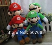 """Free Shipping 17"""" New Super Mario Bros. Stand MARIO & LUIGI 2 pcs Plush Doll Stuffed Toy Retail & Wholesale"""