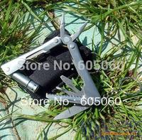 Outdoor Stainless Pocket tools set  mini multifunctional plier LED light tools