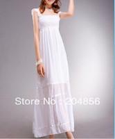 free shipping bohemia full dress beach dress lace suspender skirt tube top dress skirt white jumpsuit full dress