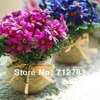 Free Shipping 2014 Wholesale Home Decor Beauty Artificial Flowers Daisy Decorative Bonsai