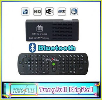 MK808B Bluetooth Android 4.1 Jelly Bean Mini PC RK3066 A9 Dual Core Stick TV Dongle 1pc MK808 Updated+1pcAir Mouse keyboard RC11