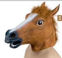 real taken picture wholesale horse mask horse head mask latex Creepy Horse Mask Head Theater Prop Novelty Latex