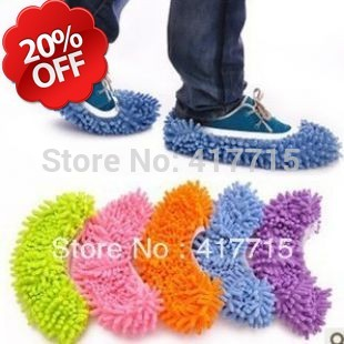 Multifunctional elastic band Chenille shoe cover,lazy drag Clean mop cap,mop slippers for floor,glass as home supply.