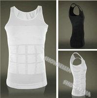 MENS Slimming Vest Underwear Under-Shirt Body Shaper Belly Cincher Waist Tights